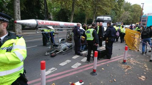 XR Peace London Rebellion on Victoria Embankment